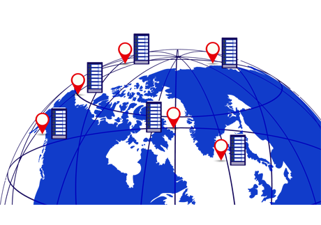 multiple server location